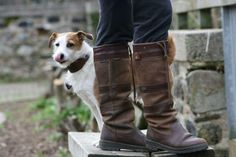 A man's best friend with his favourite #Dubarry Galway boots. #dogslovedubarry