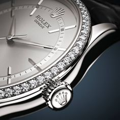 The #Rolex Cellini Time 39 mm in white gold with a rhodium dial and a semi-matt black alligator strap. #LuxuryTime #Ahmedabad #LuxuryWatches