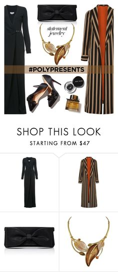 """""""#PolyPresents: Statement Jewelry"""" by nazan-m ❤ liked on Polyvore featuring Gabriela Hearst, Etro, Oscar de la Renta, Bobbi Brown Cosmetics, Burberry, contestentry and polyPresents"""