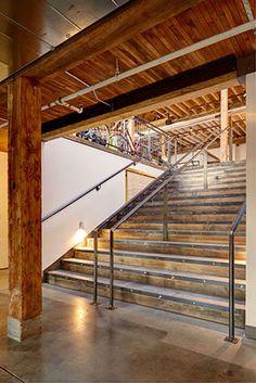 main circulation stair through the shop
