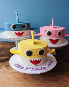 Second Birthday Cakes, Shark Birthday Cakes, Baby Boy Birthday Cake, Boy Birthday Parties, Birthday Ideas, Birthday Cards, Happy Birthday, Invitation Birthday, Birthday Decorations