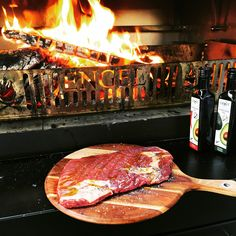Using the Engel Fire outdoor wood fired cooker to BBQ your meat perfectly, every time. Fire Grill, Fire Cooking, Firewood, Cooker, Steak, Grilling, Bbq, Outdoor, Food