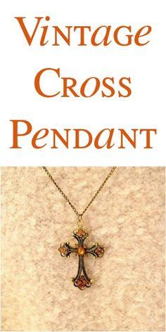 Vintage Cross Pendant: $0.81 + FREE Shipping!
