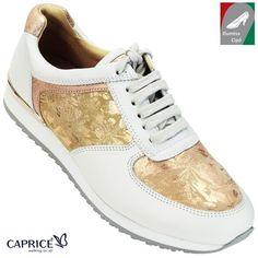 Caprice női bőr cipő 9-23604-20 664 púder kombi