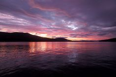 Sunset over Lake Winnipesaukee, NH