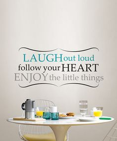 Another great find on #zulily! 'Laugh Out Loud' Wall Decal Set #zulilyfinds