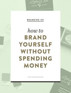 brand yourself without spending money — Spruce Rd. How to brand yourself without spending money Personal Branding, Marca Personal, Branding Your Business, Business Marketing, Creative Business, Business Tips, Online Business, Corporate Branding, Personal Logo