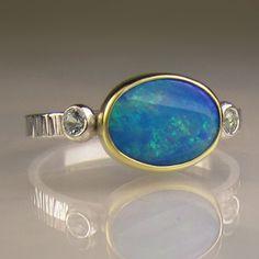 Australian Boulder Opal Ring JanishJewels on Etsy