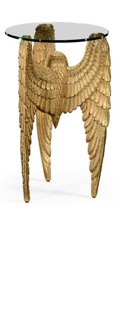 Luxury Designer Gold Gilded Angels Wing Side Table, so beautiful, inspire your friends and followers interested in luxury interior design, with new trending accents from Hollywood courtesy of InStyle Decor Beverly Hills, Luxury Designer Furniture, Lighting, Mirrors, Home Decor  Gifts, over 3,500 inspirations to choose from and share with our simple one click Pinterest Pin button enjoy  happy pinning