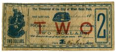 Treasury note for city of West St. Paul.
