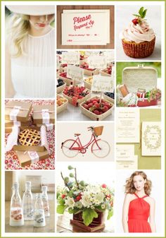 Summer Picnic: Red, White & Green Color Inspiration - The Bride's Guide : Martha Stewart Weddings