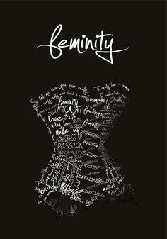 Imagen que simboliza la feminidad de la mujer a través de su figura