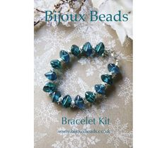 Laguna easy to make bracelet kit from a selection at Bijoux Beads Jewelry Kits, Jewelry Bracelets, Jewellery Making, Bracelet Making, Beads, Jewelry, Beading, Jewelry Making, Making Bracelets