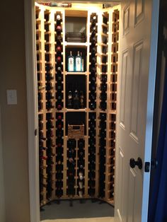 "My husband built our wine ""cellar"" by scratch for a small closet. Holds 170 bottles of wine. Not sure it will ever be full; I like wine too much. :)"