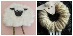 I found some more Pinspiration this past weekend! I love the little twig legs and the black face on the sheep to the left , and wooly . Simple Christmas, Handmade Christmas, Christmas Crafts, Christmas Ornaments, Christmas Tree Festival, Christmas Angels, Merry Christmas, Angel Crafts, Bunny Crafts