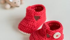 RUBY SLIPPERS - Crochet Baby Booties