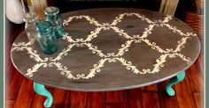 ART IS BEAUTY: Quick Stenciled Coffee table Makeover