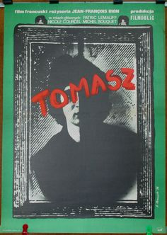 Thomas. Drama. Original poster for the famous French (1975) film by Jean - François Dion. Polish poster by Andrzej Klimowski (1976). French