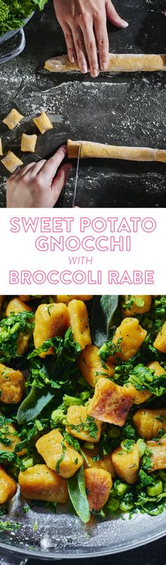 Potato gnocchi is great. But sweet potato gnocchi? Better. The sweetness of the potato and boldness of broccoli rabe is an appetizing dish.