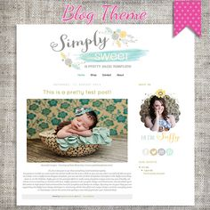 Simply Sweet Blogger Template Theme 10 by saffyloves on Etsy