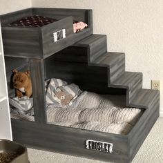 Dog Bunk Beds, Pet Beds, Dog Proof Litter Box, Dog Bedroom, Puppy Room, Diy Dog Bed, Cute Dog Beds, Dog Spaces, Dog Furniture