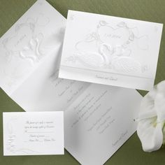 Swans and Lilies Z-Fold Wedding Invitations by Invitation Duck  http://www.invitationduck.com/invitation/swans-and-lilies-z-fold-wedding-invitations-18546