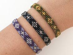 Items similar to Miyuki bracelet Sparkle and Shine Loom Bracelet Patterns, Bead Loom Bracelets, Bead Loom Patterns, Beading Patterns, Seed Bead Jewelry, Beaded Jewelry, Bead Embroidery Jewelry, Bijoux Diy, Beading Supplies