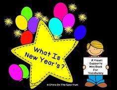 What Is New Year's? Vocabulary Development Mini Book