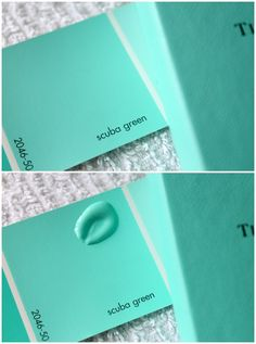 How to Make Tiffany Blue Icing Benjamin Moore/scuba green