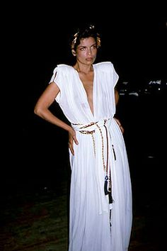 one of my fave Halston creations of all time... (Bianca Jagger at Studio 54)