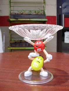 Red Yellow M M's Collectible Plastic Candy Dish 1990's Mail Away | eBay