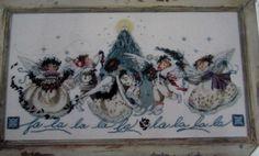 """Crystal Christmas"" Mirabilia Cross Stitch Kit/Pattern Nora Corbett OOP Vintage #Mirabilia #ChristmasAngels"