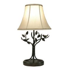 Style Craft Iron Bird and Leaf Table Lamp