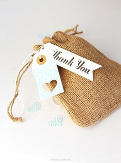 Washi tags and gift bag perfect for favors!