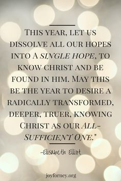 Let This Be The Year. The Year Where We Dissolve All Our Hopes.... joyforney.org