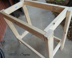Woodworking Workbench, Woodworking Projects Diy, Diy Wood Projects, Woodworking Equipment, Woodworking Classes, Outdoor Furniture Plans, Diy Furniture, Potting Bench Plans, Diy Bench