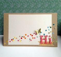 Butterfly Hi Card by Keren