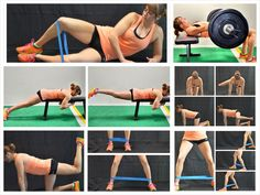 Best Glute Exercises - Your glutes are made up of three gluteal muscles - the glute maximus, medius and minimus. Here are the best glute exercises to work all three muscles! Butt Workout, Gym Workouts, At Home Workouts, Workout Routines, Gluteus Workout, Band Workouts, Fitness Routines, Leiden, Fit Girl Motivation