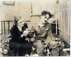 Charlie Chaplin, Edna Purviance in Shoulder Arms Charlie Chaplin Videos, Edna Purviance, Charles Spencer Chaplin, Shoulder Arms, Alain Delon, American Soldiers, Silent Film, Hollywood Actresses, Classic Hollywood