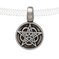 Pewter Celtic Knot Pentagram Star Pendant Necklace Charm Amulet Talisman Pagan | eBay