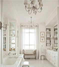 Favorite White French Country Bathroom Design Collage ! This should be in a magazine! the Decor is BEAUTIFUL and classic. http://elizabethbixler.com/french-country-bathroom-design-collage/