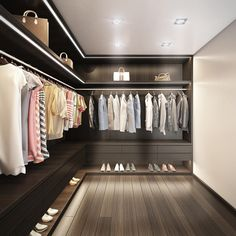 14 Walk In Closet Designs For Luxury Homes Wardrobe Design Bedroom, Master Bedroom Closet, Walk In Wardrobe, Bedroom Wardrobe, Walk In Robe, Pax Wardrobe, Wardrobe Storage, Master Room, Wardrobe Ideas