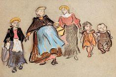 """Heinrich Zille, """"Mütter und Kinder"""",  o.J."""