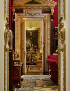 Inside The Beautiful World of Robert Zellinger de Balkany in Paris : his hôtel particulier : Hôtel de Feuquières, 62 rue de Varennes - An exceptional collection, assembled over more than fifty years with among famous paintings and objets d'Art, some marvelous Obelisks, Columns, Grand Tour Souvenirs, Mirrors & Silver - Enfilade of Doors.