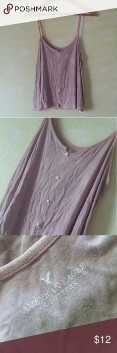 American Eagle Outfitters purple boho tank top Price is FIRM!   Cute basic tank top by AEO! Worn a handful of times. Now it's too big on me, so I have no use for it anymore. The color is more true to picture 3(AEO label) **The color is more of a lighter purple**  Underarm-underarm: 18 in. across Length: 25 in. American Eagle Outfitters Tops Tank Tops