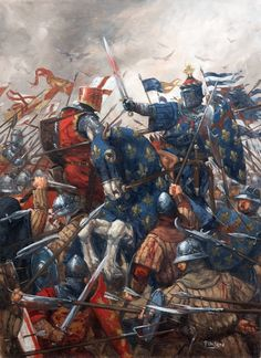 Battle of Agincourt, Hundred Years War. By Ugo Pinson http://ugopinson.blogspot.com/p/galerie_11.html
