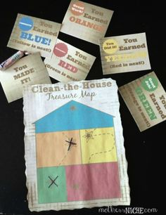 Clean-the-House treasure map. Who said cleaning the house can't be really FUN?