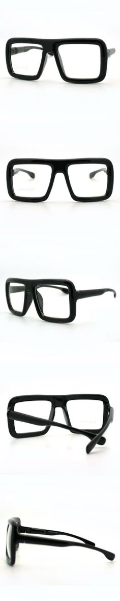 57dd27be89 YES THESE - Black Thick Square Glasses Clear Lens Eyeglasses Frame Super  Oversized Fashion