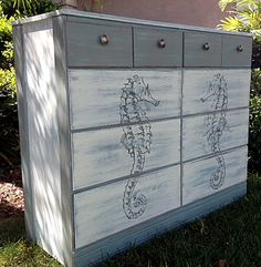 DIY Coastal Style Dresser - Full Tutorial! - The Graphics Fairy