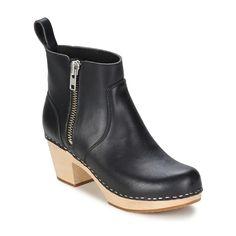 56b22152098 Swedish hasbeens ZIP IT EMY Svart Low Boots